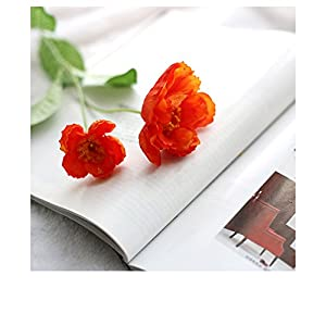Distinct 2 Heads Artificial Fake flowers Poppy Flowers for Home Wedding Party Decor Silk flower Pack of 4 72