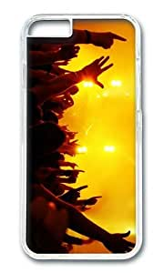 MOKSHOP Adorable concert lights hands Hard Case Protective Shell Cell Phone Cover For Apple Iphone 6 Plus (5.5 Inch) - PC Transparent