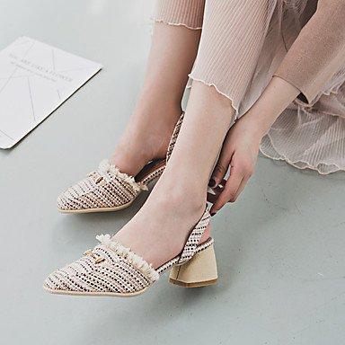 Sliver amp; Casual Party US6 Rhinestone Heel Sandals CN36 EU36 Wedge Dress Summer Walking Gold Evening UK4 Novelty Leatherette xpII7HBq