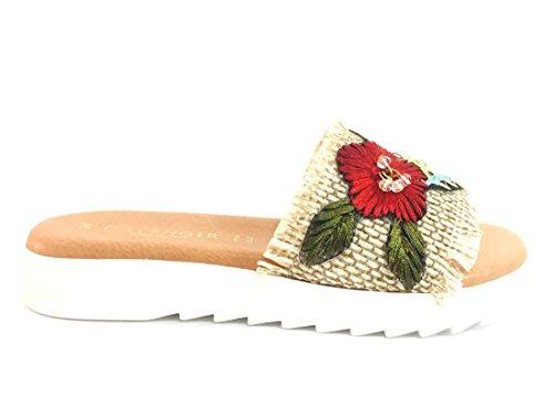 Embroidered Shoe 196 Band Cafè KFB932 Sabbia Noir gx1EqwSEA