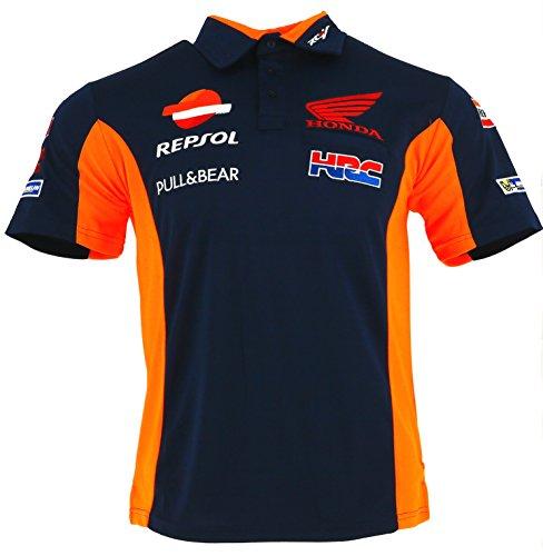 Honda Repsol Replica - Honda Repsol Moto GP Teamwear Replica Blue Polo Shirt Official 2018