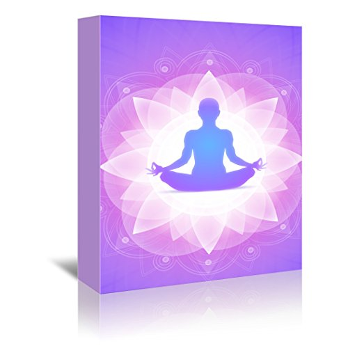 Americanflat Gallery Wrapped Canvas - Purple Yoga Faith Meditation - Wonderful Dream, 32'' x 48'' by Americanflat