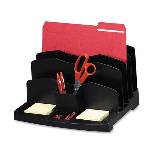 Sparco Desktop Sorter, 9 Compartments, 13 x 9-1/2 x 8-5/8 Inches, Black (SPR26373) (Sparco Desk)