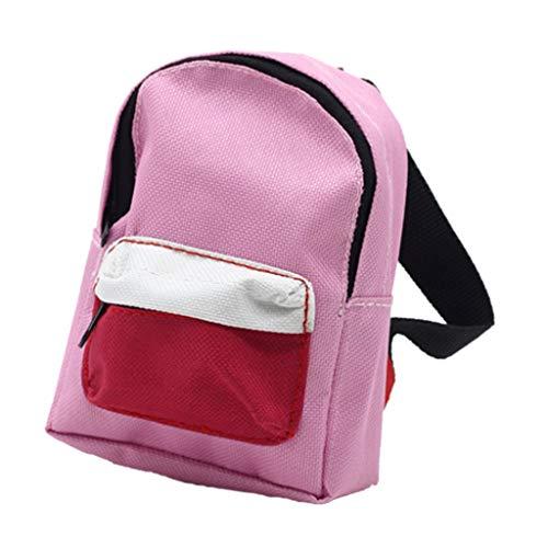 [해외]Haayward Handmade18 inch Doll Double Straps Backpack for American Girls Doll Accessories Child Gifts (Pink) / Haayward Handmade18 inch Doll Double Straps Backpack for American Girls Doll Accessories Child Gifts (Pink)