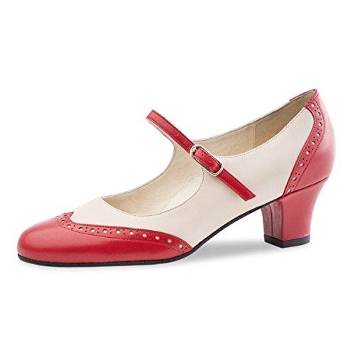 Werner Kern–Zapatos de baile para mujer Emma 4,5 Rot/Creme