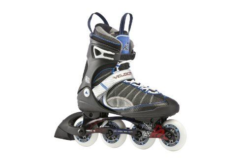 50 Mens In Line Skates (K2 Sports Men's Velocity 50Th Anniversary 2012 Inline Skates(Black/Blue/Red, 12))