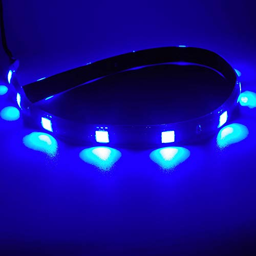 Purple,Pack of 6 DC 12V Waterproof 1Ft 15 LED Strip Underbody Light with 6 inches wires for motor