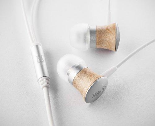 Meze 11 Deco Satin Wood Finish In-Ear White Earphones Headphones Monitors