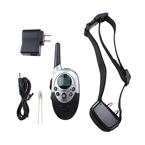 1000 Yard Rechargeable Waterproof LCD Shock Vibra Remote Pet Dog Training Collar (shipping from (Cat And Laser Pointer Costume)