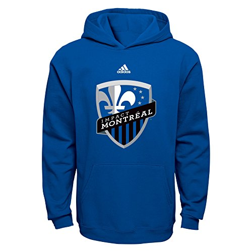 fan products of MLS Montreal Impact Boys 8-20 Primary Logo Fleece Hoodie, Blue, Medium