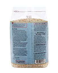 Bob\'s Red Mill Organic Quick Cooking Rolled Oats Oatmeal, 32-ounce (Pack of 4)
