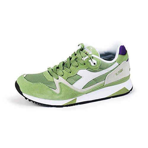 V7000 Sneaker Unisex Adulto Verde Basso II Nyl Collo a Diadora twPadqt