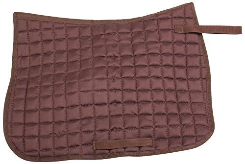 PRO SERIES COTTON QUILTED SQUARE BROWN ENGLISH SADDLE HORSE PAD ALL PURPOSE PLEASURE TRAIL SHOW (HORSE) Correction Quilted Square Pad
