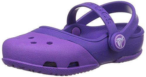 crocs Electro II PS Mary Jane (Toddler/Little Kid), Neon Purple/Ultraviolet, 10 M US Little Kid by Crocs