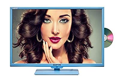 "Sceptre 32"" 720p 60Hz Class LED HDTV with Built-In DVD Player, Blue"