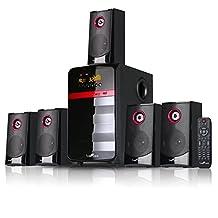 beFree SoundBFS-510 5.1 Channel Surround Sound Bluetooth Speaker System - Red