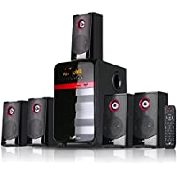 beFree SoundBFS-510 5.1 Channel Surround Sound Bluetooth Speaker System - Red