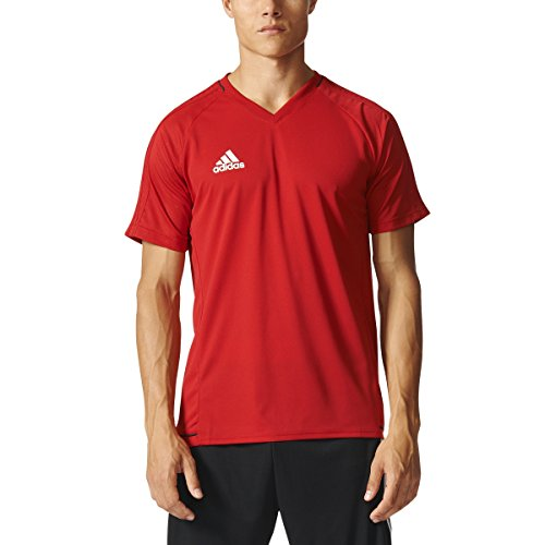adidas Tiro 17 Mens Soccer Training Jersey M Power Red-Black-White