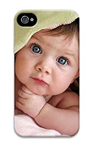 iPhone 4 4s Cases & Covers - Too Cute Baby PC Custom Soft Case Cover Protector for iPhone 4 4s