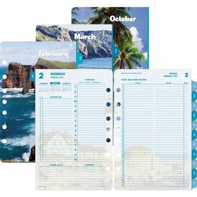 - DTM13180 - DAYTIMER'S INC. Day-Timer Coastlines 2 Pages Per Day Daily Refill