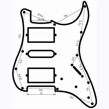 Amazon Com Toogoor Loaded Prewired Electric Guitar Pickguard