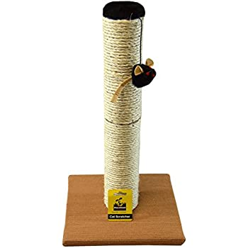 Downtown Pet Supply Deluxe Interactive Cat Scratching Sisal Posts Tree and Exerciser for Kitty, Interactive Cat Toys (Scratch Pole)
