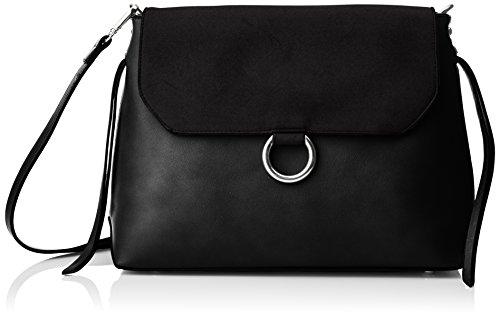 Buffalo Bag 16bwg-40 Pu Lea Pu Nobuck - Bolsos bandolera Mujer Negro (Black 01)