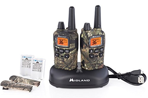 Midland - X-TALKER T65VP3, 36 Channel FRS Two-Way Radio - Up to 32 Mile Range Walkie Talkie, 121 Privacy Codes, NOAA Weather Scan + Alert (Pair Pack) (Mossy Oak Camo)