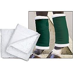 "Toklat Premium Quilted Leg Wraps (White, 16"")"