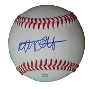 Cincinnati Reds Mat Latos Autographed Hand Signed Baseball with Proof Photo, LA Dodgers, Miami Marlins, SD Padres, Chicago White Sox, Washington Nationals, Anaheim Angels, COA