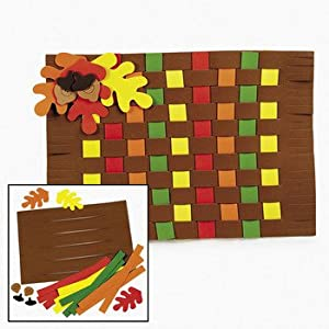 Fall colors weaving place mat craft kit for Amazon arts and crafts for kids