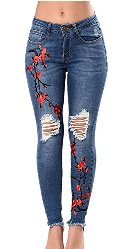 Embroidered 5 Pocket Jean - 6