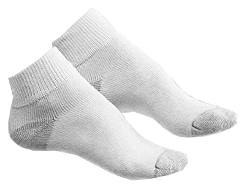 Hanes Women's Ankle Socks, 6-Pack (Shoe Size 8-12) 681/6P, White, 8-12 from Hanes