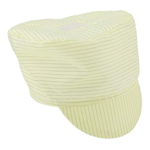作業キャップ 無塵帽子 帯電防止ハット 静電防止 再使用可能 生産現場 - 黄