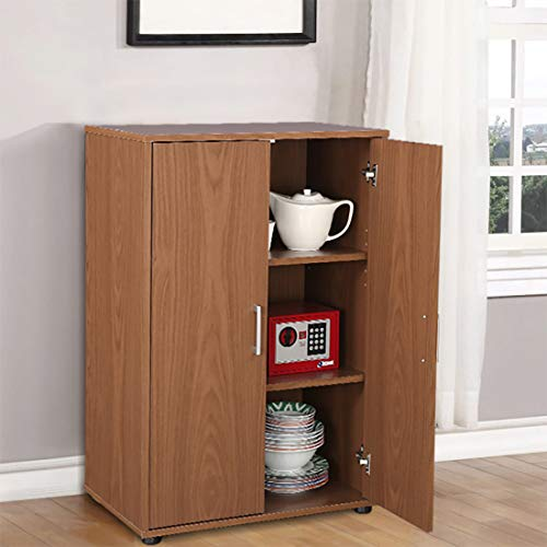 HomeTown Henley Engineered Wood Multipurpose Cabinet in Walnut Colour