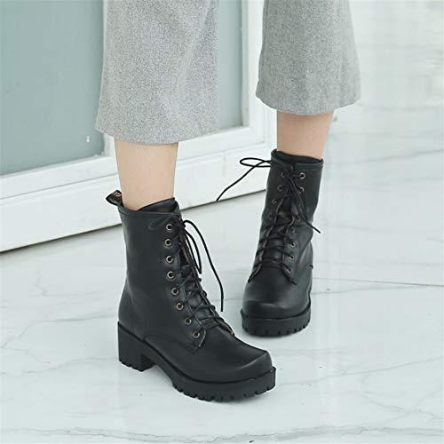 black Scarpe DEDE da con Stivali stivali Sandalette di dimensioni Quadrato Stivali comodo donna casual e da da donna donna grandi SFx5Hdqw