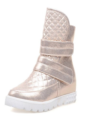 Mujer Punta Zapatos Uk8 De Semicuero Cn43 us10 Plata Botas Uk7 Plataforma 5 Golden us9 Negro Eu40 Vestido Oro Botines 5 Redonda Cn41 Golden Xzz Cn4 Eu42 wAEXTqdwx