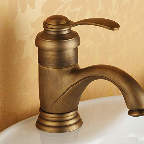 Antique All-Copper Antique Washbasin Retro Washbasin Washbasin Hot and Cold Faucet Paint color Antique Heightening