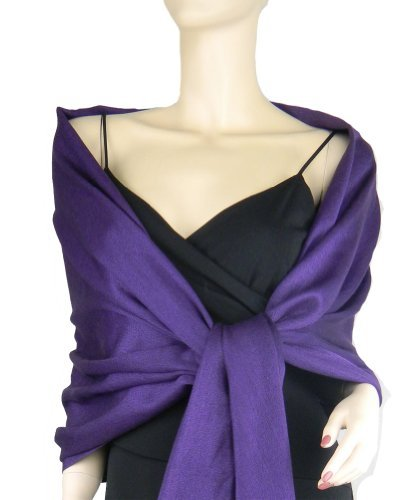 Pashmina / Silk Wrap Royal Purple