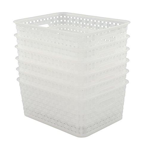(Pekky Plastic Storage Basket, Kitchen Organizer, Set of 6)