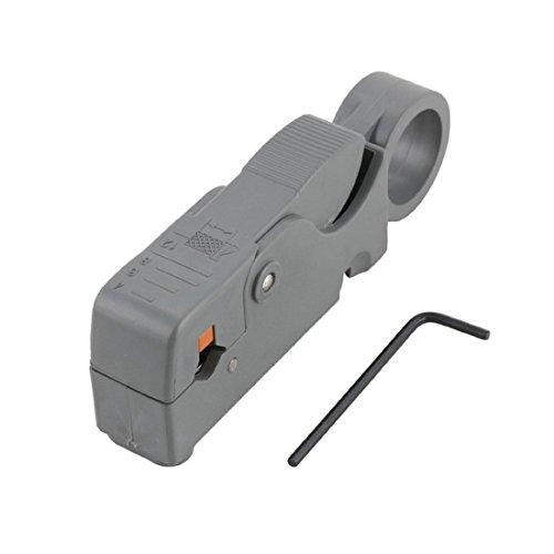 Alotm Universal Coaxial Cable Stripping Rotary Hand Tool for RG58, RG59, RG6, RG62 and (Wiper Cable)