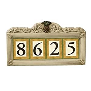 Grasslands Road Estate Pineapple 3 by 4-Inch Build Your Address Plaque 4 Digit Magnetic Number Tile Holder with Stakes