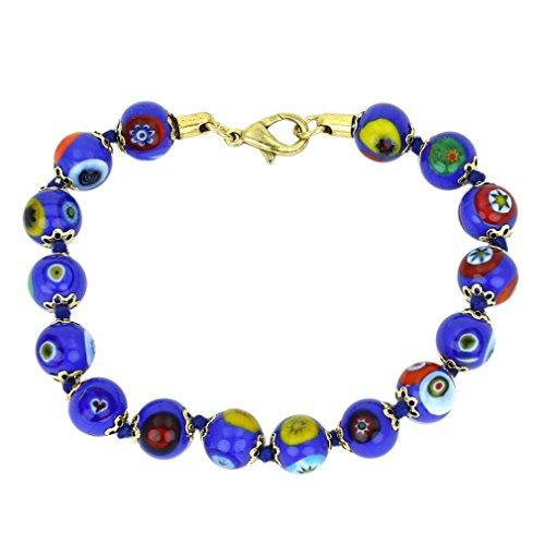 (GlassOfVenice Murano Glass Mosaic Bracelet - Blue)