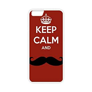 Keep Calm And Smile White Stylish Cover Case For Iphone 6 Plus (5.5inch) with high-quality Silicon Rubber