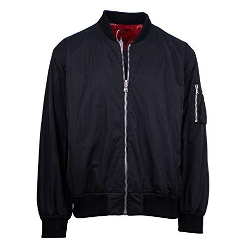 424 Men's Reversible Paisley Bomber Jacket XL Black ()