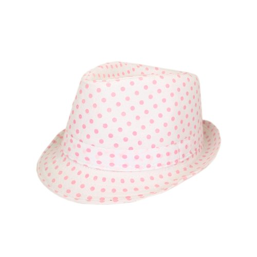 Premium Polka Dot Cotton Fedora Hat Available