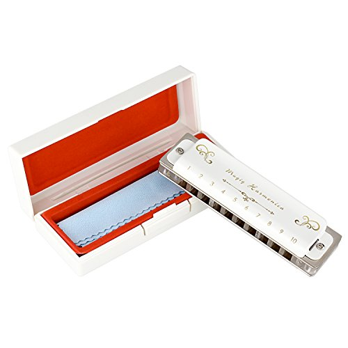 Beautiful rare white harmonica