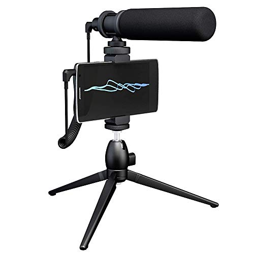 Maono AU-CM10S Super Cardioid Condenser Video Shotgun Microphone Kit, Vlog Mic with Wind Foam and Tripod for iOS iPhone iPad, Canon Nikon DSLR Camera, Camcorder, Android Smart Phone, YouTube