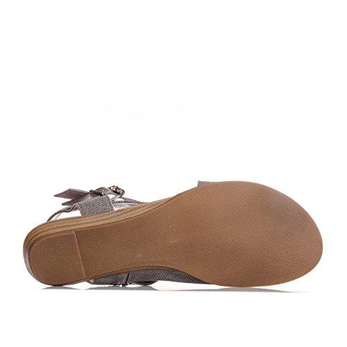 Sandalo Con Zeppa Balla, Grigio, (9)