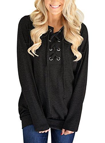 Dokotoo Womens Casual Solid Sweatshirt